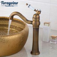 Wholesale antique mixers - Bathroom facuet Kitchen Sink Basin Faucet Vanity Sink Mixer torneira robinet Antique Brass Finish Solid Brass Tap.