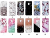 Wholesale G6 Light - Marble Soft TPU IMD Case For Moto G6 Plus Galaxy A5 2018 For Sony L1 Rock Flower Silicone Gel Stone Hybrid Cover Cell Phone Skin 2018