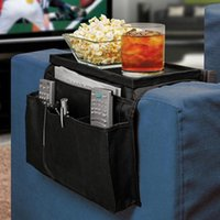 Wholesale folding sofas - 6 Pockets Sofa Handrail Storage Bag Couch Armrest Arm Rest Organizer Remote Control Holder Bag Organizer