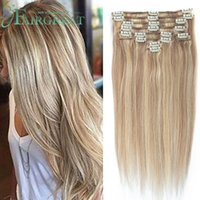 Wholesale 22inch human hair weft for sale - Fairgreat P18 Clip in Full Head Straight Human Hair Extensions inch inch Remy Brazilian Human Hair Weft Style Cheap Wholesalee price