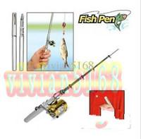 mini canetas de pesca caneta venda por atacado-Atacado-Vara de Pesca Mini bolso Fish Pen Vara De Pesca na Caneta caso vara de pesca com embalagem de Varejo