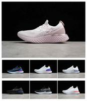 koşu ayakkabıları konforu toptan satış-Kadın Koşu Ayakkabıları chaussures nike epic react Epik Tepsi Eğitmenler Mens Spor Moda Yarış Koşucu Erkekler Kadınlar Kişilik Eğitmen Konfor Basketbol Ayakkabı
