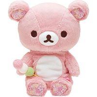 pembe anime toptan satış-Pembe Rilakkuma Bear Peluş Oyuncaklar 20 CM Yumuşak Relax Ayı Dolması Oyuncak Hayvanlar Bebek Bebek Çocuk Yastık Oyuncaklar sevgililer hediyeler