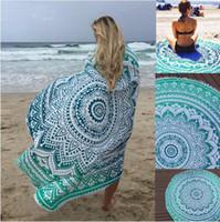Wholesale hot pink blanket resale online - Hot Sell Chiffon Round Beach Towel Bohemia Style Sunbath Beach Blanket cm Yoga Mat Throw Tapestry Hippy Boho Tablecloth