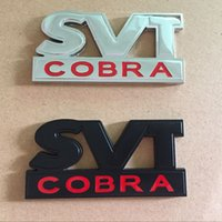 ford mustang cobra großhandel-Car Styling 3D Metall SVT COBRA Kofferraum Emblem Abzeichen Aufkleber Aufkleber für Ford Mustang GT V6
