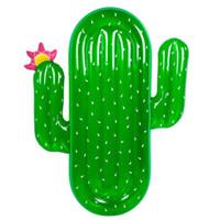 montaje en círculo al por mayor-Suministros de agua Venta caliente de verano PVC inflables grandes montajes de cactus flotadores nadando Circle Fun Beach Games Pad 70rl W