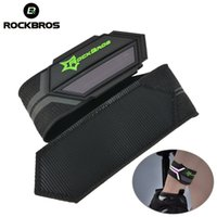 поддержка велосипеда оптовых-ROCKBROS Cycling Bicycle Pants Hand Clip Reflective Belt Sports Safety Running Bike Spirituality Light Belt Riding Ankle Support