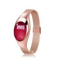 Wholesale Blood Metal - Fashion BT Smart Watch Metal Wristwatch Bracelet High Definition LED Blood Pressure Heart Rate Monitor Pedometer Fitness Tracker