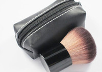 Wholesale 182 makeup brushes resale online - HOT Makeup rouge brush blusher brush Leather bag DHL shiping