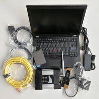 escáner automotriz portátil al por mayor-scanner automotriz coche herramienta de diagnóstico de reparación ordenadores portátiles usados T410 I5I7 4G + para BMW ICOM wifi lado A + B + C + SSD de 480 GB con el soft-ware