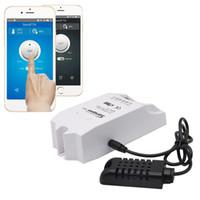 interruptores de controle de temperatura venda por atacado-Original Sonoff WIFI Controlador de Temperatura Casa Inteligente APLICATIVO de Telefone Móvel Controle Remoto Sem Fio Interruptor de Controle de Temperatura Alexa