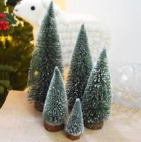 masaüstü ide toptan satış-Mini Yılbaşı Ağacı Küçük Çam Ağacı Mini Ağaçlar Yerleştirilen Masaüstü Ev Dekor Noel Dekorasyon Çocuklar Hediyeler