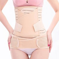 Wholesale maternity belly bands - 3in1 Women Postpartum Recovery Belly Waist Pelvis Belt Support Band Body Shaper Maternity Girdle Waist Trainer Corset Shapewear