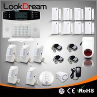 sesli ev güvenliği toptan satış-Güncelleme Kablosuz Ev Hırsız Alarm Sistemleri Elektronik Ev GSM Güvenlik Uyarısı Autodialer DHL Tarafından SMS Ses