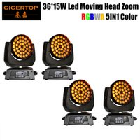 Wholesale unit wall for sale - Gigertop New Brand Unit x15W Led Zoom Moving Head Light Led Wall Washer Stage Lighting RGBWA IN1 Tyanshine Leds DMX Channels
