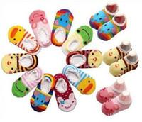 Wholesale baby sock shoe wholesale online - Baby Boat Socks Children s Shoes Antiskid Non slip Bottom Kids socks breathable comfortable cotton children s Cartoon socks SK08 Cartoon