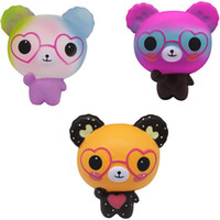 Wholesale scented toys online - Squishy cm Love Cute Glasses Bear Scented Squishy Charm Super Slow Rising Squeeze Toys Stress Reliever Toy Nice Gift