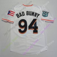 76ec0d4b Baseball Maimi 94 Bad Bunny Jersey with puerto rican flag Men Size S-3XL