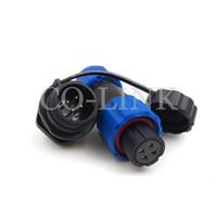 ip68 соединители водонепроницаемые оптовых-SD13 4-контактный водонепроницаемый разъем питания, IP68 розетка, 5А 380В Электронный круглый авиационный разъем, светодиодный источник питания Воздушный разъем