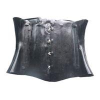 черные латексные комбинезоны оптовых-1mm Thickness Black Latex Women's Corsets Fetish with Keel for Unique Latex Bodysuits