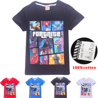 Wholesale clothes for kids fashion girls boys online - Boys Girls fortnite t shirt New Children Game Cartoon cotton Short sleeve t shirt Baby kids clothing for years color B11