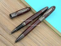 Wholesale Pattern Carving - Business Writing Supplies OFFICE metal High-end luxurious gift Dark red Gun black carve classical Pattern Writer series Defoe Rollerball Pen