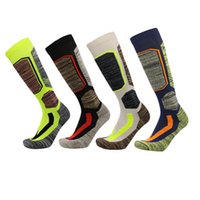 Wholesale Wholesale Women Thermals - 4 Colors Winter Warm Men Women Thermal Long Ski Socks Thicker Cotton Sports Snowboard Climbing Camping Hiking Socks wholesale