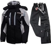 traje de esqui pantalones de mujer al por mayor-Invierno para mujer trajes de esquí mujer chaqueta de snowboard y pantalón damas mantener caliente skiwear chaquetas de esquí traje de las mujeres