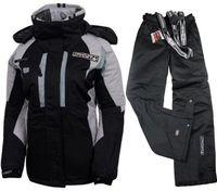 Wholesale women s snowboard pants - Winter womens ski suits female snowboard jacket and pant ladies keep warm skiwear ski jackets suit women