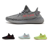 Wholesale Cream Uv - 2018Correct Version Kanye West 350 boost CP9366 triple white SPLY 350 shoes sneaker cream white Zebra with UV light