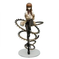 Wholesale anime girl big - No Box cm Anime Makise Kurisu Steins Gate Sexy Elegant Girl PVC Action Figure Toy Doll Collection Model Brinquedos Figurals Gift