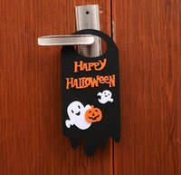 ingrosso decorazioni natalizie di gatto nero-Happy Halloween Decorazioni Lanterna di zucca Cartoon Cat Black Ghost Orange Skull Hanging Hook Door Hanger Ornamenti per Pub Cosplay Party