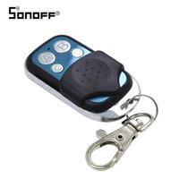 kanal düğmeleri toptan satış-Itead SONOFF 433 Mhz Uzaktan Kumanda Wifi 4 Kanal Kablosuz 433 Kontrol ABCD 4 Düğmeler Anahtarı Akıllı Anahtar Fob için Slampher T1 4CH RF