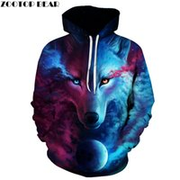 neuheit plus größen-sweatshirts großhandel-Oansatz Marke Wolf Printed Hoodies Herren 3D Sweatshirt Qualität Plus Größe Pullover Neuheit 6XL Streetwear Herren Kapuzenjacke