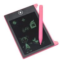 tableros mini lcd al por mayor-Tableta digital portátil Tablero de dibujo de la pantalla de la escritura del LCD de 4,4 pulgadas para los niños