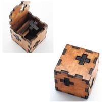 ingrosso giocattoli di legno adulti-Regalo di Natale Kong Ming Luban Lock Bambini Bambini 3D Giocattoli di legno Giocattoli educativi per adulti Classici per bambini Cubo Gioco Puzzle