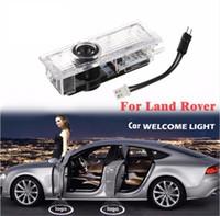 range rover cars großhandel-2 Stücke LED Autotür Willkommen Laser Projektor Logo Tür Geisterschatten Licht für Land Rover freelander 2 Range Rover Evoque Discovery4