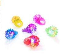 Wholesale concert toys for sale - Flashing Colorful LED Light up Bumpy Jelly Rubber Rings Finger Toys for Parties Event Favors Raves Concert Shows Gifts