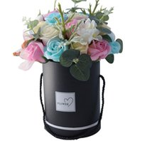 Wholesale flower buckets for sale - Group buy Rose Soap Flower Gift Box Europe and America Hug Tube Portable Flower Bucket Birthday Gift