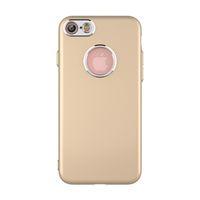 cubierta de botones para celular al por mayor-Cubiertas del teléfono celular para iPhone 7 plus fundas iPhone6s Plus Suave móvil Botón de pintura de metal Caso de TPU de silicona Opp