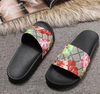 8174170ba 2019 Big size us5-us13 eur48 Designer sandals luxury Cat Tiger bee print  Soft leather rubber men women sandals slipper size 36-46 with box