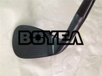 Wholesale 54 wedge - Brand New BOYEA Golf Clubs SM6 Wedges BlACK Golf Wedge Set 50 52 54 56 58 60 Degrees Steel Shaft With Head Cover
