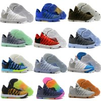 Wholesale kevin durant shoes colors - Best Zoom KD 10 mens Professional Basketball Shoes Kevin Durant 10s Knitting Anniversary University 18 colors Sneakers US 7-12