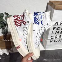 эксклюзивные ботинки оптовых-Эксклюзивный магазин 2018 Новый KITH совместный продукт скейтборд обувь Повседневная обувь Высокое качество Мужская обувь Открытый Открытый размер Размер 36-45
