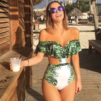 Wholesale trend The New One Piece Swimsuit Sexy Swimwear Vintage Women Summer Beach Wear Bathing Suit Bandage Backless Halter Top Monokini Bodysuit