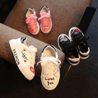 ingrosso baby fondi duri-Fashion Babies Toddler Child Teenager Sport Style Casual Scarpe per bambini Ragazzi e ragazze Soft Bottom Scarpe sportive