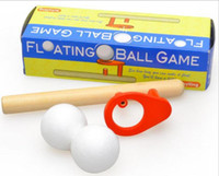 Wholesale puzzle games online - Blow Magic ball game classic children early educational fun puzzle wooden Magic Toy for children Foam Floating Magic Ball