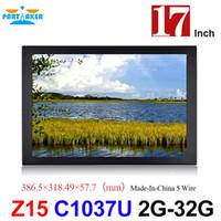china dual intel achat en gros de-Écran tactile Mini PC avec 17 pouces fabriqué en Chine Écran tactile résistif à 5 fils Intel Celeron Dual Core 1037U tout en un PC