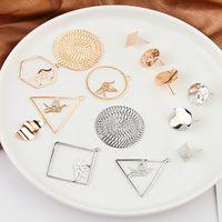 ingrosso gioielli triangolo a cerchio-Ciondolo con ciondolo a forma di triangolo in oro placcato mille gru a cerchio, collana in argento, risultati di gioielli fatti a mano