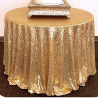 escritorio amarillo al por mayor-bling bling gold silver wed mesa decoración mantel recepción decoración escritorio cubierta